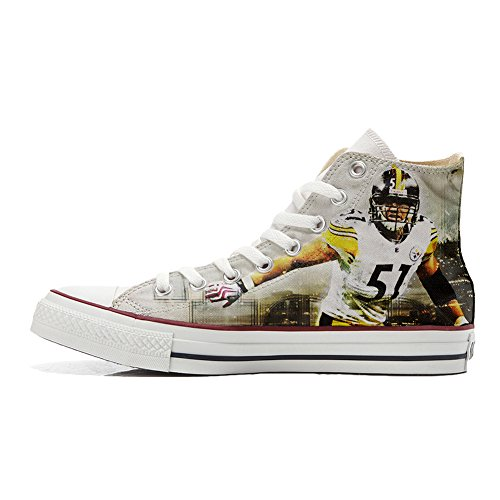 Handmade Football All Personalizados Zapatos Unisex Converse Star producto Y4P6qxZHw