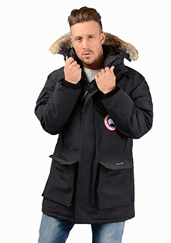 Canada Goose Mens Expedition Parka in Navy