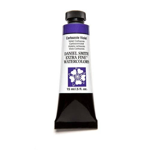 Daniel Smith Extra Fine Watercolor 15ml Paint Tube, Carbazole Violet