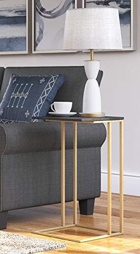 Serta FUST10064B Harton C-Table, Black & Gold -