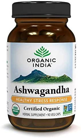 ORGANIC INDIA Ashwagandha Supplement, 90 Veg Caps