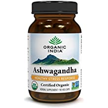 ORGANIC INDIA Ashwagandha Herbal Supplement Veg Capsules, Healthy Stress Response (90 Capsules)