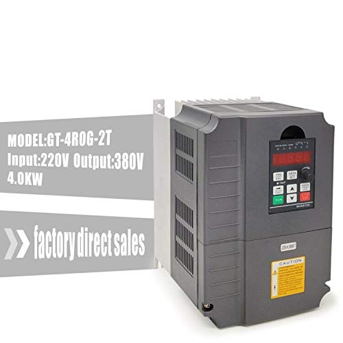 Huanyang 4kw 5hp VFD CNC Variable Frequency Drive Converter Controller 1 Phase 220v Input 380v 3 Phase Output Inverter for 3kw Motor Speed - Controller Variable Drive Frequency