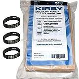 9 Kirby Vacuum Bags G3 G6 Micron Magic 197394 + 3 Belts