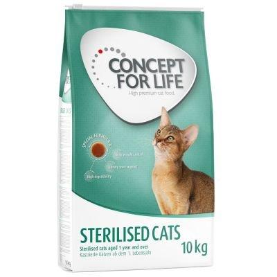 Concepto para la vida gatos esterilizados. Un alimento saludable ...