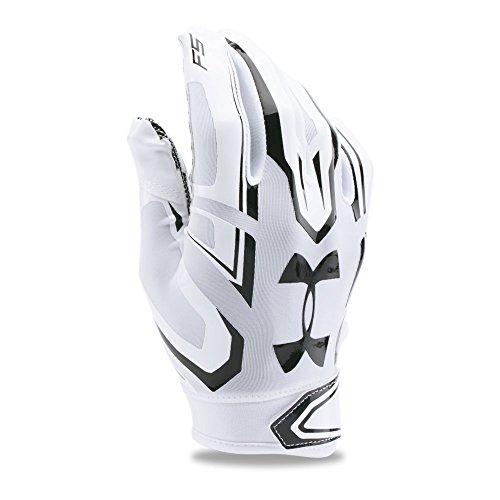 Under Armour Boys' F5 Football Gloves, White/White, Youth Medium