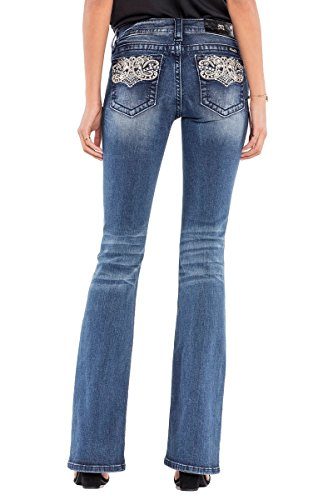 Miss Me Jeans Extended Sizes Agency Wash Perfect Paisley Mid-Rise Boot Cut (33)