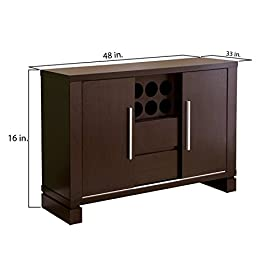 Furniture of America Allesia Dining Buffet Table w...
