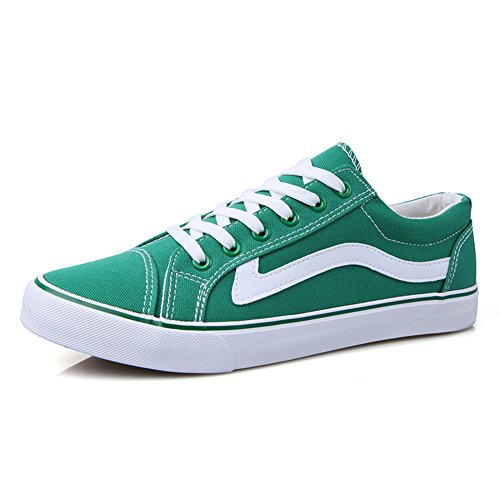 Young & Ming Sneakers Homme Baskets Basses Chaussures Sport Casual Chaussures Basses Homme Vert