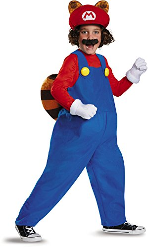 Mario Raccoon Deluxe Super Mario Bros. Nintendo Costume,
