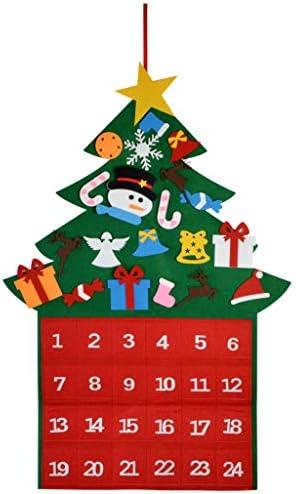 [해외]Marrywindix Felt Christmas Tree Fabric Advent Calendar 24 Days Countdown to Xmas Advent Calendar Tree for DIY Decorations Wall Door Hanging GiftPockets for Kids / Marrywindix Felt Christmas Tree Fabric Advent Calendar, 24 Days Coun...