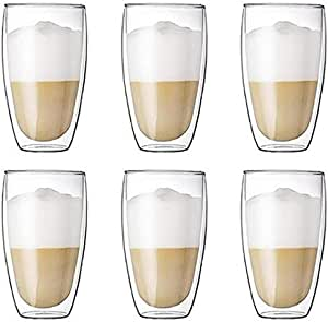 6 Pieces Double Wall Glasses (large)