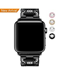 [New Release] For Apple Watch Band 38mm & 42mm Bands, Hotodeal Strap for Iwatch Bracelet Accessories Metal Stainless Steel Replacement for Women & Men for Apple Smart Watch Series 3, 2 & 1
