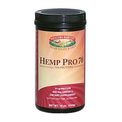 Manitoba Harvest Hemp Pro #70 Water Soluble 70% Protein Concentrate - 16 Oz, Pack of 3