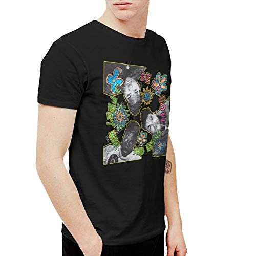 HuiXieJian Men's De La Soul 3 Feet High & Rising T Shirts Black XXL