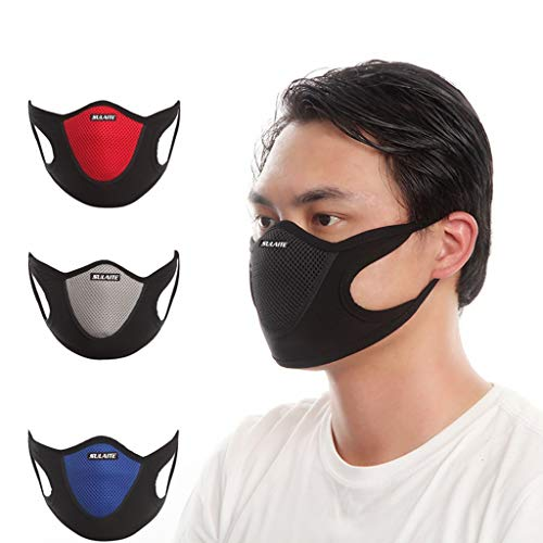 Amlaiworld Mouth Mask Anti-Dust Adjustable Earloop Face Mask Protection Breathing Safety Mask (Red)