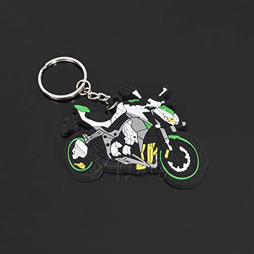 FASHLADY Modelo de la Motocicleta Llavero de Goma Llavero ...