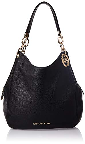Michael Kors black leather tote | MICHAEL Michael Kors Lillie Large Chain Shoulder Tote Black One Size