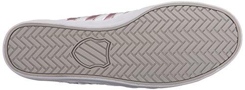 K-Swiss Belmont So, Zapatillas para Mujer Blanco (White/silver Pink 143)