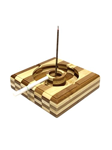 Incense Holder Catcher Combination Bamboo product image