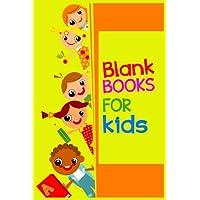 Libros en blanco para niños: cuaderno de cuaderno forrado para escribir