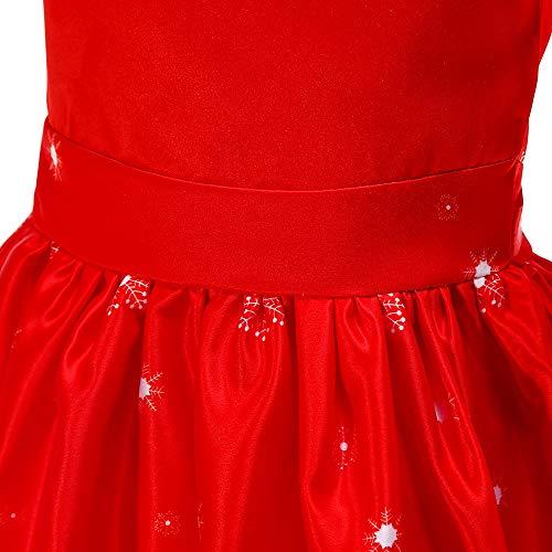 Collana Crinolina Rosso Kids Costume Winter Evening Christmas Una Gift Tailor Sleeve Christmas parola Dress Winter Abbigliamento circolare Short Girl Angelof Costume Birthday Accessories qI7wBxO