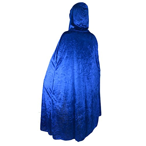 [Unisex Halloween Party Festival Magic Hooded Costume Cloak Blue] (Superhero Themed Costumes Ideas)