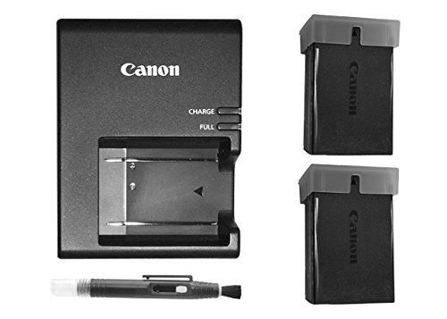 Excelshoots Premium 2 X Canon LP-E10 Batteries Plus Canon LC-E10 Battery Charger for Canon EOS Rebel T6 Digital SLR Camera + Lens Pen Cleaner by Excelshoots