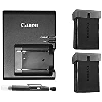Excelshoots Premium 2 X Canon LP-E10 Batteries Plus Canon LC-E10 Battery Charger for Canon EOS Rebel T6 Digital SLR Camera + Lens Pen Cleaner