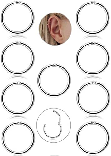 FIBO STEEL Stainless Cartilage Earrings product image