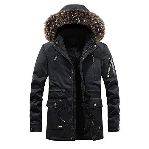 Taglie Plus colore Outdoor Zipper Hooded Forti Capispalla Zhrui Thick Winter Mens black Fleece 3 Fur Warm Jacket Xxl Dimensione Coat Cotton Down 0ZqqT5Ow