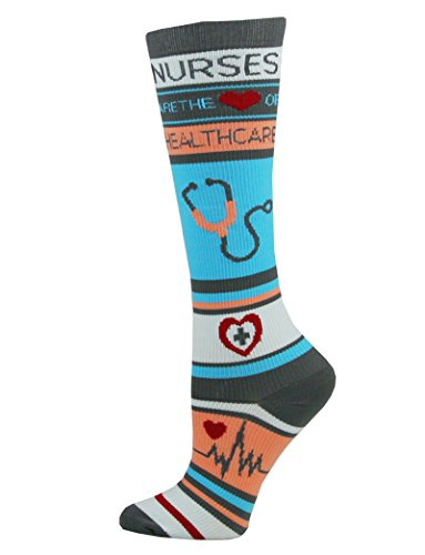 Think Medical Women's Nurse Print 10-14mmHg Compression Sock (Nurse Healthcare)