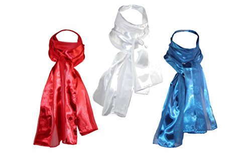 CTM Womens Satin Different Scarves