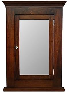 Bon Du0026E Wood Craft Cabinets Dark Walnut Recessed Medicine Cabinet U0026 Mirror /Michelle