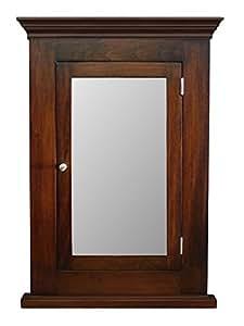 Amazon.com: D&E Wood Craft Cabinets Dark Walnut Recessed ...