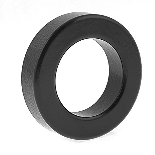 Toroid Ferrite Core - SODIAL(R) Transformer Choking Coil Parts Toroid Ferrite Core AS225-125A Black