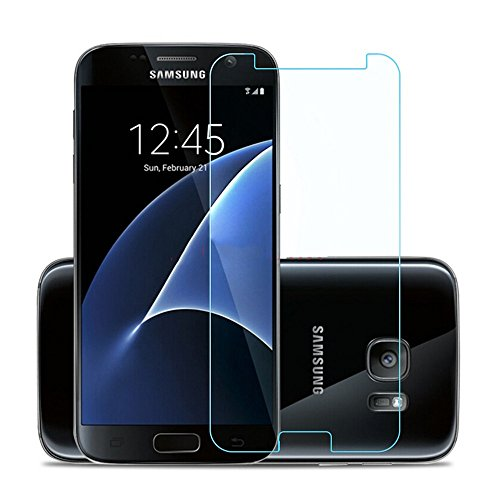 Galaxy S7 Screen Protector, Moona Tempered Glass 9H Hardness 2.5D Edge Bubble Free Anti Fingerprint Oil and Scratch for Samsung Galaxy S7 (1 Pack)