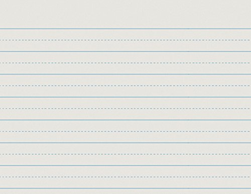 School Smart Alternate Ruled Paper for Grade 1-11 in x 8 1/2 in - Ream of 500 - White (Tablet School Writing)
