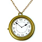 Skeleteen Jumbo Gold Clock Necklace - White Rabbit