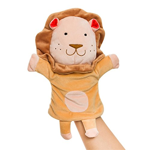 Remeehi Plush Animal Glove Puppet Hand Dolls Hand Puppet Story Telling Props Funny Toys Cartoon Animal Doll Lion