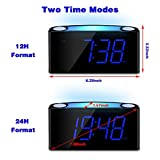 Alarm Clock for Bedrooms - 7 Color Night Light,2