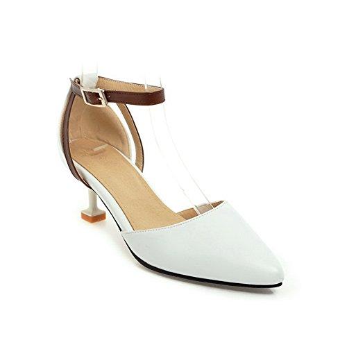 BalaMasa Sandales Compensées Femme Blanc CMMpa