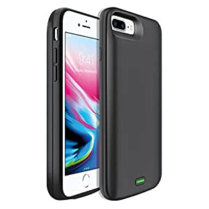IPhone 8 Plus External Battery Skin Cover Case Black Rechargeable