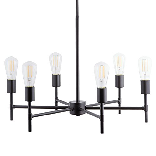 Cheap Bella LED Industrial Hanging Chandelier Light Fixture Bronze Linea di Liara LL-P250-BRO
