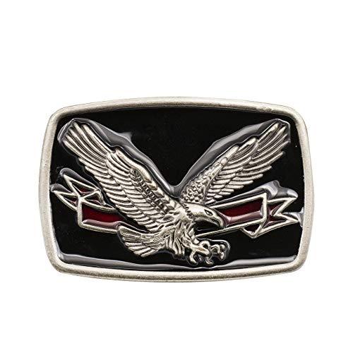 YOQUCOL American National Bird Bald Eagle Black Tone Belt Buckle For Men ()