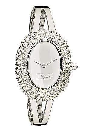 D&G Dolce&Gabbana Damen-Armbanduhr MUSIC LDY SS STONES SLV DIAL BRC DW0279