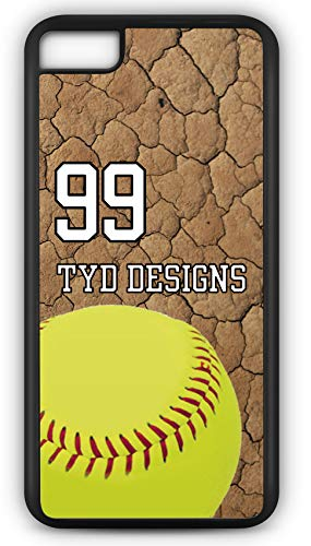 iPhone 8 Case Create Your Own Softball Batting Order Player Number Name Team Name Customizable TYD Designs in Black Rubber