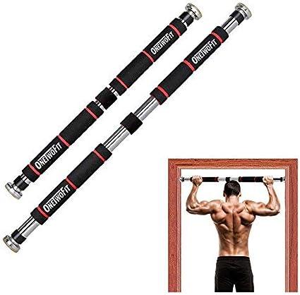 Pull Up marco de la puerta Bar, ajustable for puertas con una anchura de 65-85 cm bar / tire hacia arriba de acero robusto, 3 métodos de instalación - max peso del usuario hasta 150 kg barras de gimna