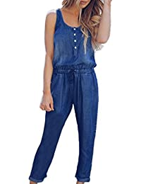 928aede4f64 2018 Women Loose Jumpsuit Strap Bib Pant Trousers Casual Overall Baggy  Trousers by-NEWONESUN