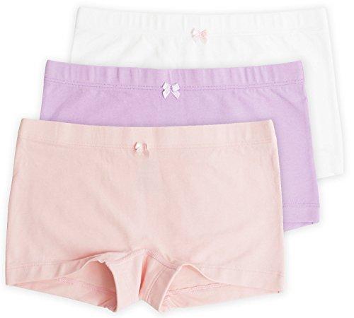 Sophie Girls Shortie, Hybrid Underwear Short, Ideal for Skirts & Dresses, Encased Waistband, Pastel, 3 Pack, Pastel, -